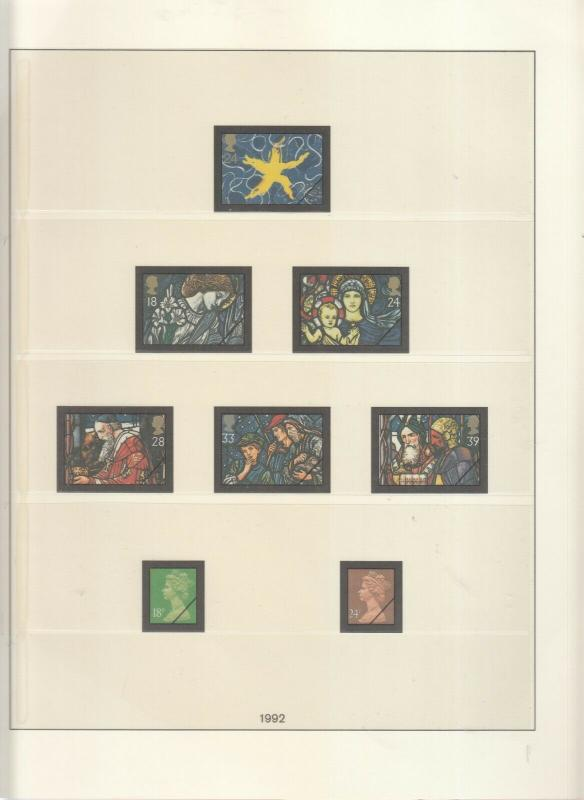 LINDNER LUXURY GB ALBUM PAGES YEARS 1991-1992