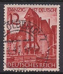 Germ. Sc 493 Danzig ist Deutsch (German) Used L19