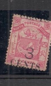 North Borneo SG 18 Fantastic Split Overprint MOG (4deh)