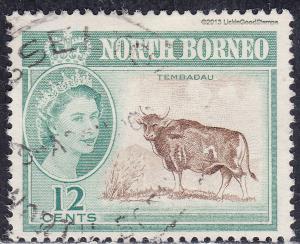 North Borneo 285 USED 1961 Banteng, Wild Oxen, Tembadau