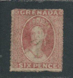 GRENADA 1861 6d ROSE FU SG 3 CAT £90