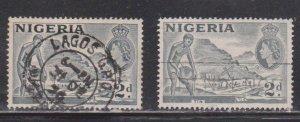 NIGERIA Scott # 93, 93b Used - QEII & Tin Mining
