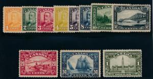 Canada 149-159 Mint LH set. Parliament and Bluenose