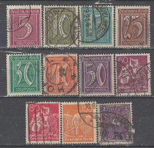 COLLECTION LOT # 4619 GERMANY 11 STAMPS WMK 125 1921 CV+$24