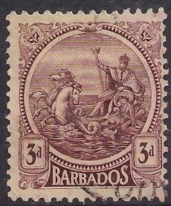 Barbados 1921 – 24 KGV 3d Purple - Yellow used SG 213 ( 473 )