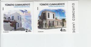 2018 Turkey Houses - Euromed Issue (2) (Scott 3618-19) MNH