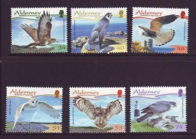 Alderney Sc 319-24 2008 Birds stamp set mint NH