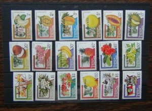 Barbuda 1983 Fruits & Flowers set MNH some low values have rust marks