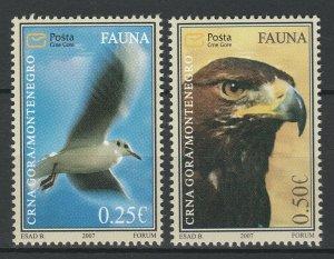 Montenegro 2007 Birds of prey 2 MNH stamps