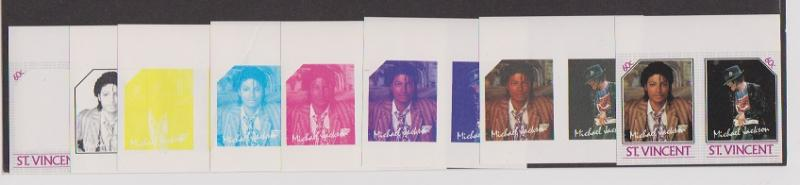 ST.VINCENT  STAMPS MNH OF MICHAEL JACKSON.LOT#447-A-B-C-