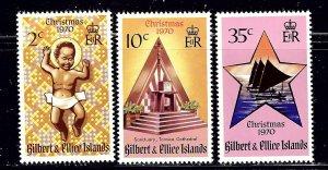 Gilbert and Ellice 170-72 MNH 1970 Christmas   (ap2076)