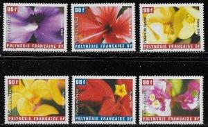 French Polynesia Scott #'s 885a-f MNH