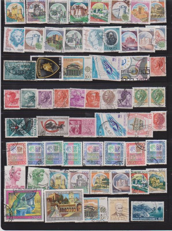 LOT OF DIFFERENT STAMPS OF ITALY USED (59) LOT#152