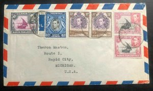 1953 Entebbe Uganda British KUT Airmail Cover To Rapid City MI USA