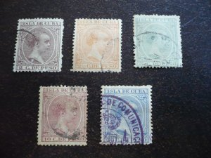 Stamps - Cuba - Scott# 137,141,145,148,151 - Used Partial Set of 5 Stamps