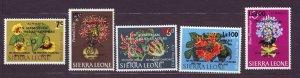 J22706 Jlstamps 1965 sierra leone set mnh #c37-41 ovpt,s