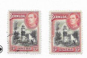 Bermuda #121 Used - Stamp CAT VALUE $2.25