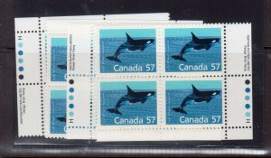 Canada #1173i Very Fine Never Hinged Match Set Harrison Paper Four Corners