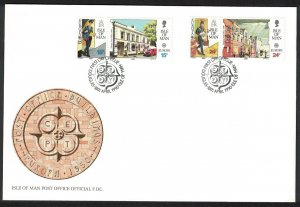 Isle of Man Europa Post Office Buildings 4v FDC SG#438-441