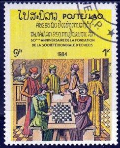 Laos, Sc 539, CTO-NH, 1984, Chess