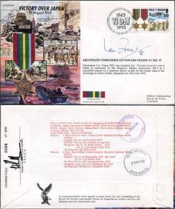 JS45/16BC Victory in Europe sign Lieutenant Commander Ian Edward Fraser VC (A)