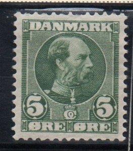 Denmark Sc 70 1905 5 ore Christian IX green stamp mint