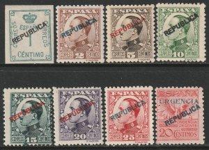 Spain Sc 449-455,E10 complete set MH