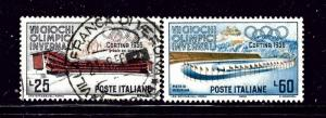 Italy 707-08 Used 1956 Olympic issues