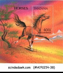 TANZANIA - 1993 HORSES / HORSE - MINIATURE SHEET MINT NH