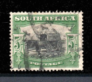 South Africa 1927 KGVI 5/- single SG 38 perf 14 used CV £35 for a single