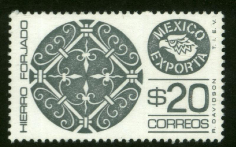 MEXICO Exporta 1128Var $20P Wrought Iron, Gray. Paper 7 MINT, NH. F-VF.