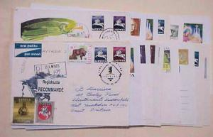 LITHUANIA  PICTORIAL ADS on 38 SMALL COVERS INCLUDES REGISTERED