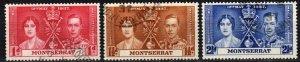 Montserrat #89-91   F-VF Used CV $3.35  (X1089)