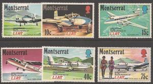 Montserrat 268-273 Mint VF H