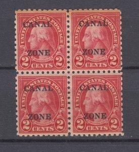 J29774, 1926-7 canal zone blk/4 perf 10 unwmk mnh #97 washington
