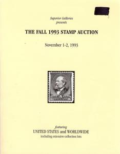 Superior:    The Fall 1993 Stamp Auction, Superior - Nov....