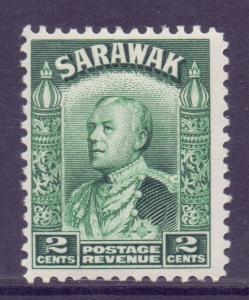 Sarawak Scott 110 - SG107, 1934 Sir Charles Vyner Brooke 2c Green MNH**