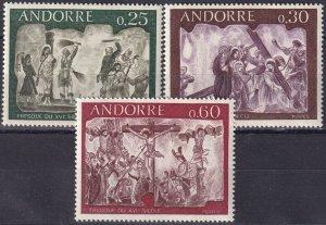 Andorra (Fr) #185-7    MNH CV $3.45  (S10158)