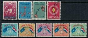 Paraguay #565-71,C272-3*/u  CV $2.75