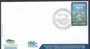Costa Rica 100 Years Life Insurance Society of the National Magisterium FDC 2021