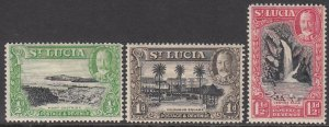 St. Lucia 95-97 MH Short Set CV $1.50