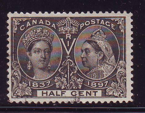 Canada Sc 50 1897 1/2c Victoria Jubilee stamp used
