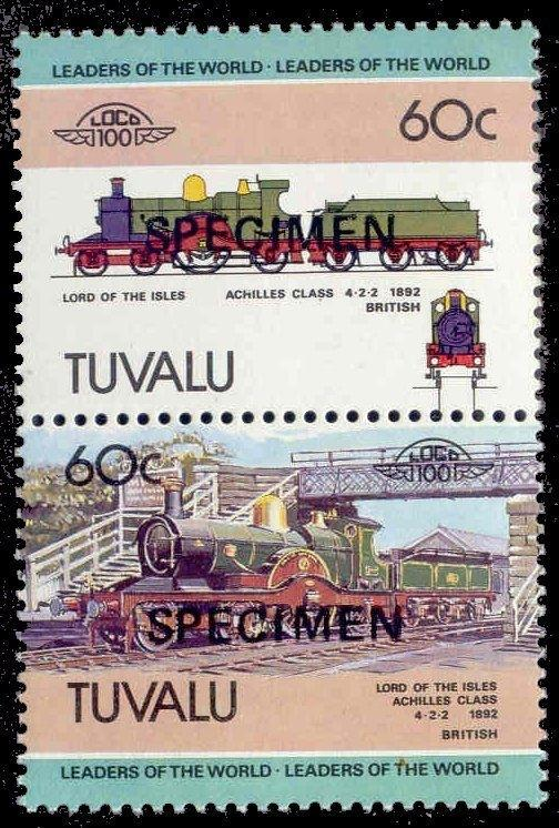 Tuvalu 1984 Achilles Class British Locomotive w/ SPECIMEN Ovpt (Scott # 225)
