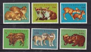 ROMANIA  ^^^^^^^x6 older  MNH ( Wild Animals )$$@ lar4258roma $$@ lar4143roma