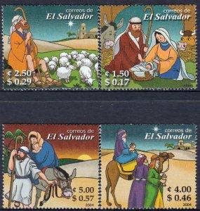 EL SALVADOR CHRISTMAS Sc 1608-1611 SET of 4 MNH 2004