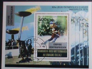 CENTRAL AFRICA-1976- WINTER OLYMPIC GAMES INNSBRUCK'76- CTO S/S VERY FINE