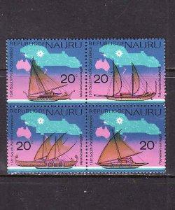 Nauru-Scott#124-7-Unused NH set-Melanesian Outrigger-maps