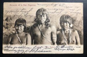 1919 Buenos Aires Argentina RPPC Postcard Cover To Linz Austria Chaco Austral Na