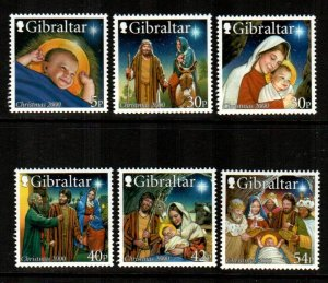 Gibraltar 2000 # Christmas set  # 854-859