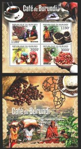 Burundi. 2012. 2645-48, bl. Growing coffee. MNH.